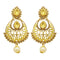 Jheel Gold Plated Stone Pearl Drop Dangler Earrings