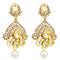 Jheel Kundan Stone Gold Plated Dangler Earrings