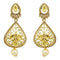 Native Haat Kundan Stone Gold Plated Pearl Drop Dangler Earrings - N2900234A