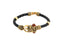 Femmibella Rexine Gold Plated Om, Ganpati, Rudraksha Damroo Auspicious Shiva Bracelets for Men and Women