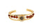 Femmibella Gold plated Om Sun Rudraksha with Studded Stone Adjustable Kada Bracelets for Men and Women