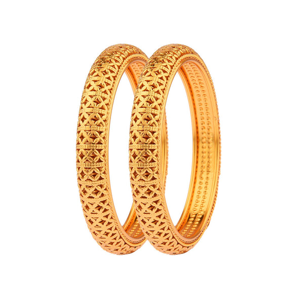 Femmibella Gold Plated Kada Bangle for Womens