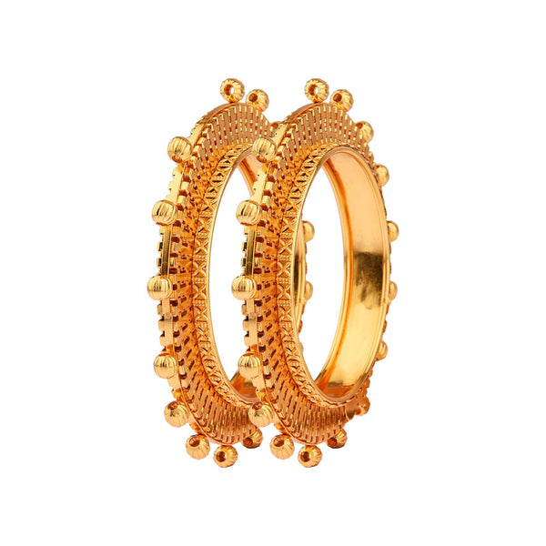 Femmibella Filigree Pattern Gold Plated Kada Bangle for Womens