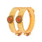 Femmibella Gold Plated Stone Studded Kada Bangle for Womens
