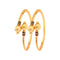 Femmibella Gold Plated Meenakari Work Kada Bangle for Womens