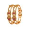 Femmibella Gold Plated Ruby Kundan Stone Studded Kada Bangle for Womens