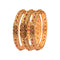 Femmibella Copper Gold Plated Ruby Stone Studded Kada Bangle for Womens
