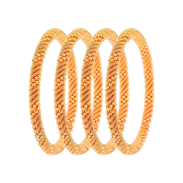Femmibella Gold Plated Twisted Design Kada Bangle for Womens