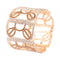 Femmibella Gold Plated LCT White Cubic Zirconia Floral Design Bracelet for Women