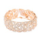 Femmibella Gold Plated White Cubic Zirconia Stone Studded Leaf Pattern with Latkan Bracelet for Women