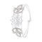 Femmibella Silver Plated White Cubic Zirconia Stone Studded Bracelet for Women