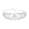 Femmibella Silver Plated White Cubic Zirconia Square Bracelet for Women