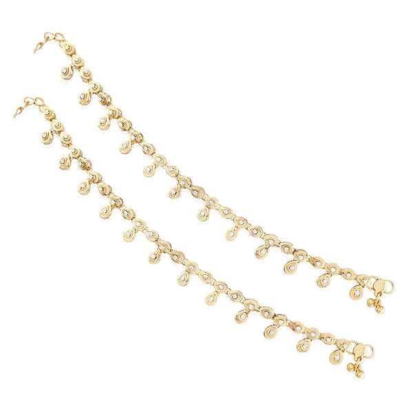 I Jewels Traditional Gold Plated Payal/ Anklets