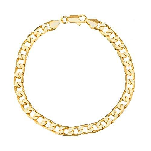 I Jewels Gold Plated Classic Cubic Chain Style Bracelet for Men ( A93MLP31G)