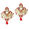 Kriaa Gold Plated Meenakari Stone Dangler Earrings