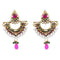 Kriaa Austrian Stone Pearl Gold Plated Chandbali Earrings