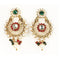 Kriaa Gold Plated Austrian Stone Pearl Dangle Earrings