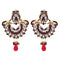Kriaa Gold Plated Kundan Stone Peacock Chandbali Earrings