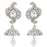 Kriaa Austrian Stone Rhodium Plated Dangler Jhumki Earrings