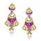 The99jewel Kundan Meenakari Gold Plated Dangler Earrings