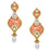 The99jewel Kundan Gold Plated Dangler Earrings