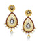 The99Jewel Stone Pearl Gold Plated Dangler Earrings