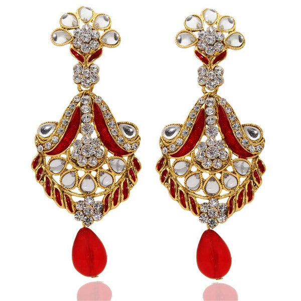 The99Jewel Austrian Stone Meenakari Dangler Earrings