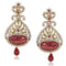 Kriaa Austrian Stone Drop Gold Plated Dangler Earring