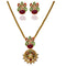 Kriaa Stone And Pearl Pendant Set