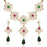 Kriaa Multicolor Stone And Kundan Necklace Set