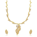 Kriaa White Austrian Stone Necklace Set