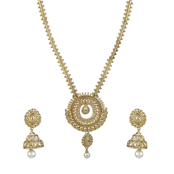 Kriaa Gold Plated Traditional Necklace Set