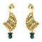Kriaa Pearl Beaded Gold Plated Dangler Earrings