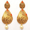 Kriaa Zinc Alloy Gold Plated Stone Dangler Earring