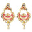 The99Jewel Kundan Pink & White Pota Stone Chandbali Earings