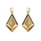 The99Jewel Gold Plated Stone Kundan Dangler Earrings
