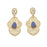 The99Jewel Gold Plated Blue Stone Kundan Dangler Earrings