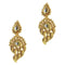Kriaa Kundan Gold Plated Zinc Alloy Danglers earring