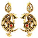 The99Jewel Meenakari Pota Stone Danglers Earrings