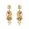 The99Jewel Pink Pota Stone and kundan Danglers earrings