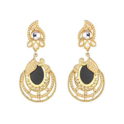 Kriaa Kundan Resin Gold Plated Dangler Earring