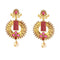 Kriaa Kundan Pearl Drop Gold Plated Dangler Earring
