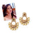 Kriaa BrownStone And Pearl Chandbali Earrings
