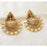 Kriaa Austrian Stone And Pearl Chandbali Earrings