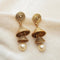 Kriaa Gold Plated Double Jhumki Earrings