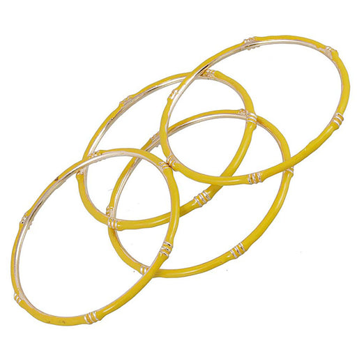 Kriaa Yellow Gold Plated Set Of 4 Bangle Sets