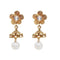 Kriaa Gold Plated Pearl Drop Jhumki Earrings