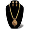 Kriaa Gold Plated Austrian Stone Haram Necklace Set