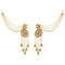 Kriaa Stone Gold Plated Dangler Kan Chain Earrings