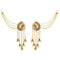 Kriaa Gold Plated Stone Dangler Kan Chain Earrings